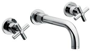 wall mount sink faucet with 2 handles contemporary bathroom