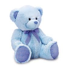 keel toys gingham nursery 35cm teddy bear soft plush cuddly