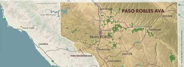 paso robles winery map paso robles it s but cooler than you think wine features