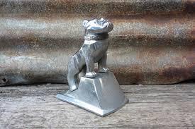 vintage orignal mack bulldog ornament emblem on stand