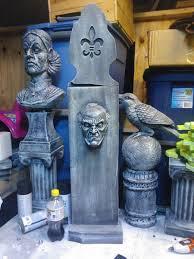 grave digger halloween prop only 48 days left till halloween eerie acres cemetery