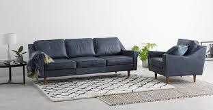 3 sitzer sofa dallas 3 sitzer sofa vintage premium leder in mitternachtsblau