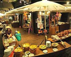international buffet and seafood at baiyoke sky hotel thailand