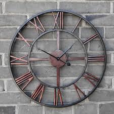 horloge murale engrenage pas cher surdimensionné 3d rétro romaine vintage en fer forgé
