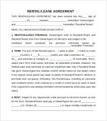 rental lease template 28 images rental lease template 13 free