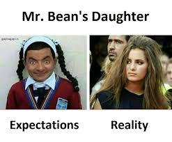 Meme Bean - funny joke about mr bean s daughter gap ba gap