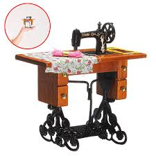 aliexpress com buy 1 12 pretend toy vintage miniature sewing