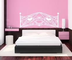 vinyl wall decal sticker feminine headboard os aa1152