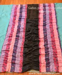 Pink Ruffle Curtains Panels by Vertical Ruffle One Panel Curtains