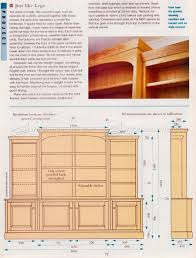 Furniture Plans Bookcase by Classic Breakfront Bookcase Plans U2022 Woodarchivist