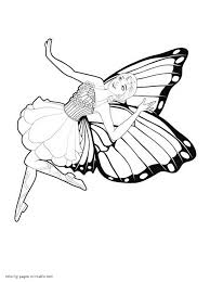 and the fairy princess coloring pages