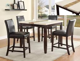 Espresso Dining Room Set by Larissa Cream Table Top 5 Piece Counter Height Dining Set In