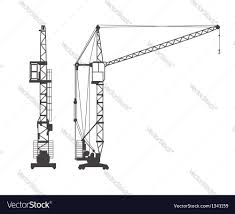 tower crane royalty free vector image vectorstock