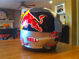 motocross helmet painting 2011 bell helmet m9 red bull painted lance coury