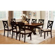 Dark Dining Room Table by Amazon Com Furniture Of America Argoyle 9 Piece Trestle Dining