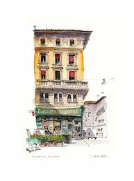 162 best urban cityscapes watercolor sketches and illustrations