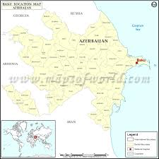 where is on the map where is baku location of baku in azerbaijan map