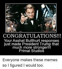 Ass Hat Meme - warmer bros congratulations your asshat butthurt responses just