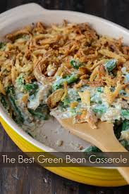 green bean casserole on princess by the novice chef