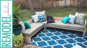 DIY Modern Outdoor Sofa Sectional Plywoodpretty YouTube - Modern outdoor sofa