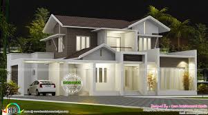 2100 Sq Ft House Plans by Beautiful 2100 Sq Ft Modern Sloping Roof Home Kerala Home Design