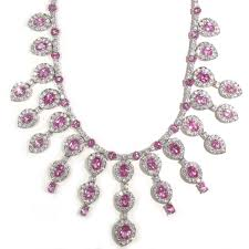 pink sapphire necklace images Tamara g designs pink sapphire chandelier necklace jpg