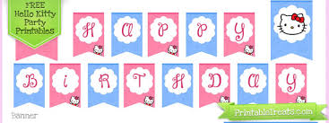kitty birthday party printables u2014 printable treats