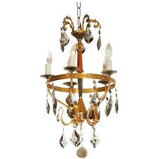 Neoclassical Chandeliers Neoclassical Style Brass And Smoked Crystal Italian Chandelier