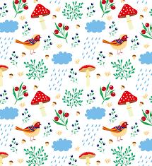 pattern drawing illustrator pattern drawing mushrooms very leaves illustration illustrator