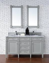 contemporary 60 inch double sink bathroom vanity gray finish no top