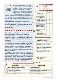 a carol simplified version key included worksheet