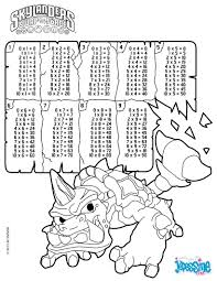 multiplication table skylanders coloring pages hellokids com