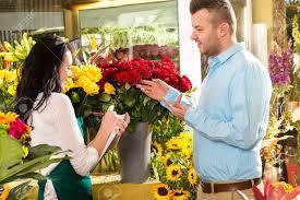 ordering flowers customer ordering flowers bouquet flower shop florist stock