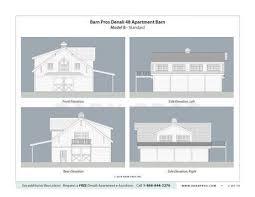 Barn Plans by Barns With Apartment Denali Gable Barn Barn Pros
