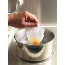 pocher en cuisine 20 sachets jetables à pocher les œufs ustensiles oeuf et beurre