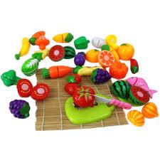 kinder spiel k che 24 teile los kinder spielhaus küche spielzeug kunststoff cut obst