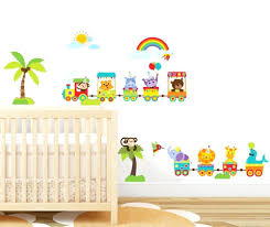 wall ideas safari wall decor safari wall decor safari wall safari animal nursery wall decor woodland animal train wall sticker for baby kids bedroom rainbow wall art decor peel stick in wall stickers from home