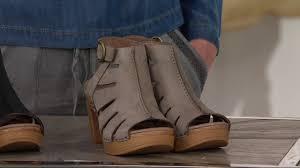 dansko leather cut out sandals demetra on qvc youtube