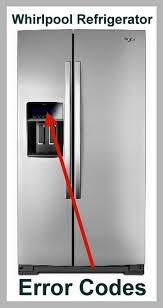 Whirlpool Dishwasher Clean Light Blinking Whirlpool Refrigerator Error Codes Display Code Reset