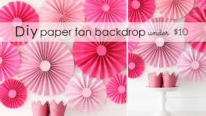 paper fan backdrop diy paper fan backdrop 10 destination nursery