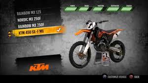 mx vs atv supercross ktm 450 sx f fully upgraded hd youtube
