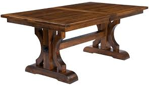 dedon planked trestle dining table countryside amish furniture