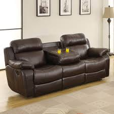 Console Sofa Double Recliner Sofa Double Recliner Sofa 21 With Double Recliner