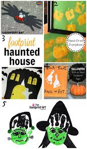 Halloween Haunted House Craft by Top 10 Halloween Handprint And Footprint Crafts Crafty Mama In Me