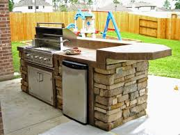 Outdoor Kitchen Cabinet Kits by Charming Outdoor Kitchen Kits Pertaining To L Shaped Outdoor