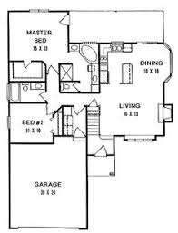 Two Bedroom House Plans by Plan 1179 Ranch Style Small House Plan 2 Bedroom Split House