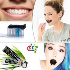 bamboo charcoal teeth whitening black toothpaste removes stains