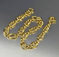 charm bracelet gold vintage images Vintage gold fill infinity chain charm bracelet boylerpf jpg