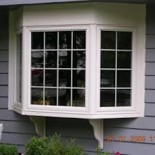 window contemporary home exterior decoration using bay window and