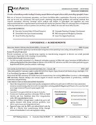 Samples Of Achievements On Resumes by Operations Executive Resume Example